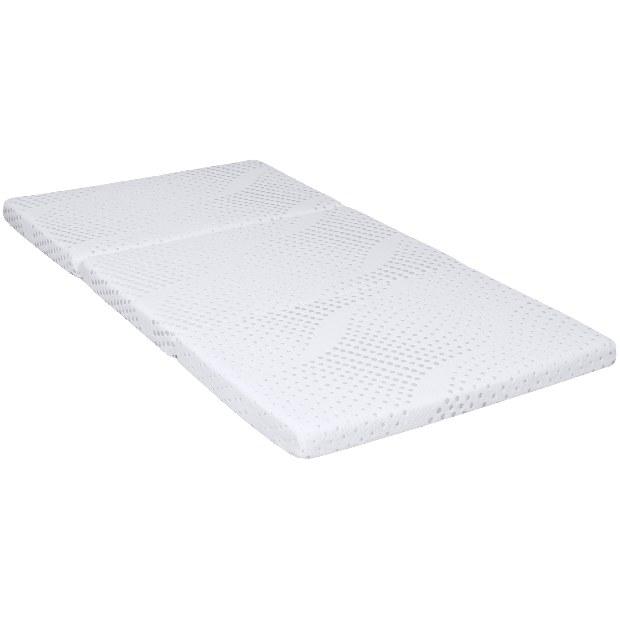 portable 3 tri folding gel memory foam floor mattress twin removable cover ebay. Black Bedroom Furniture Sets. Home Design Ideas