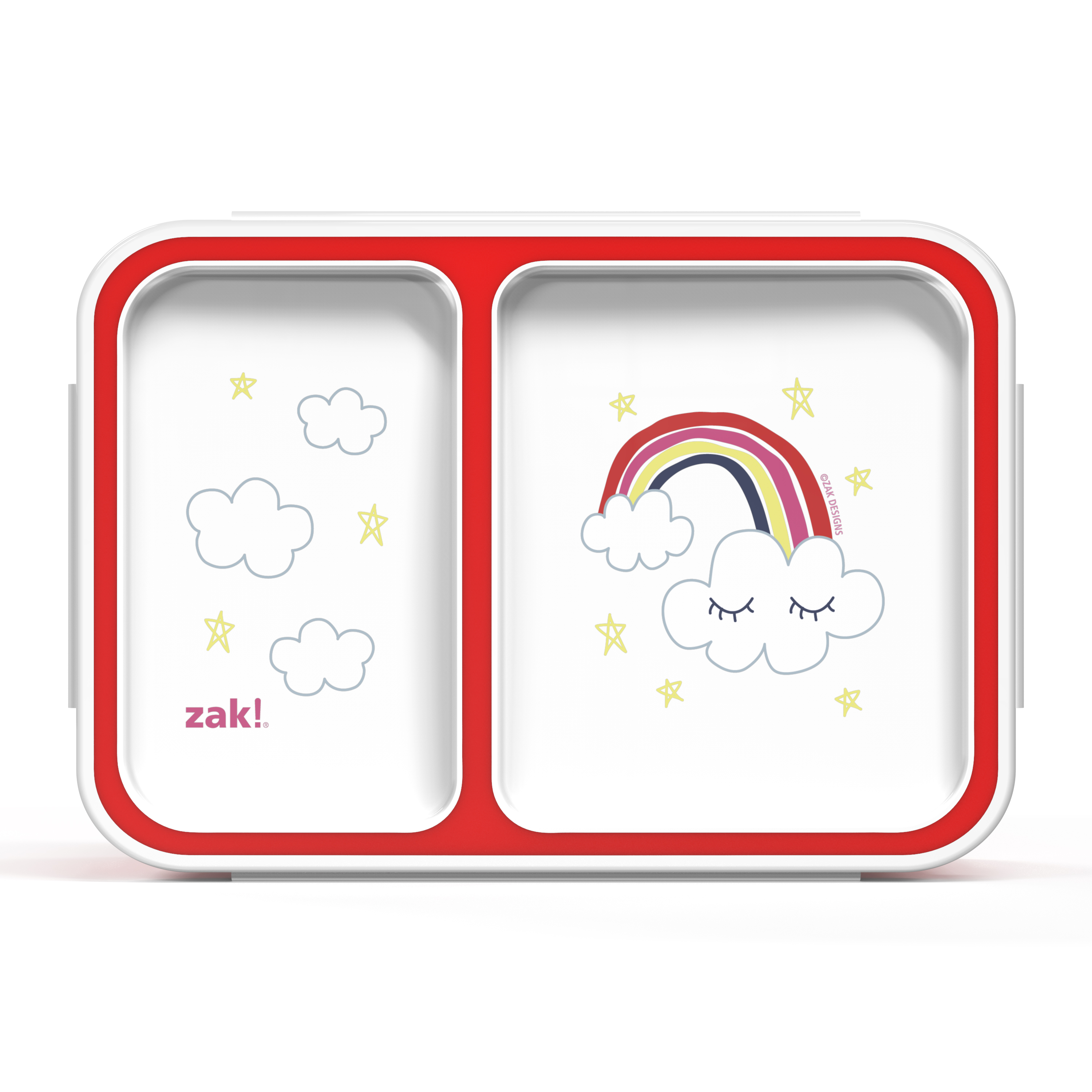 Happy Things Dual-compartment Reusable Bento Box, Clouds slideshow image 1