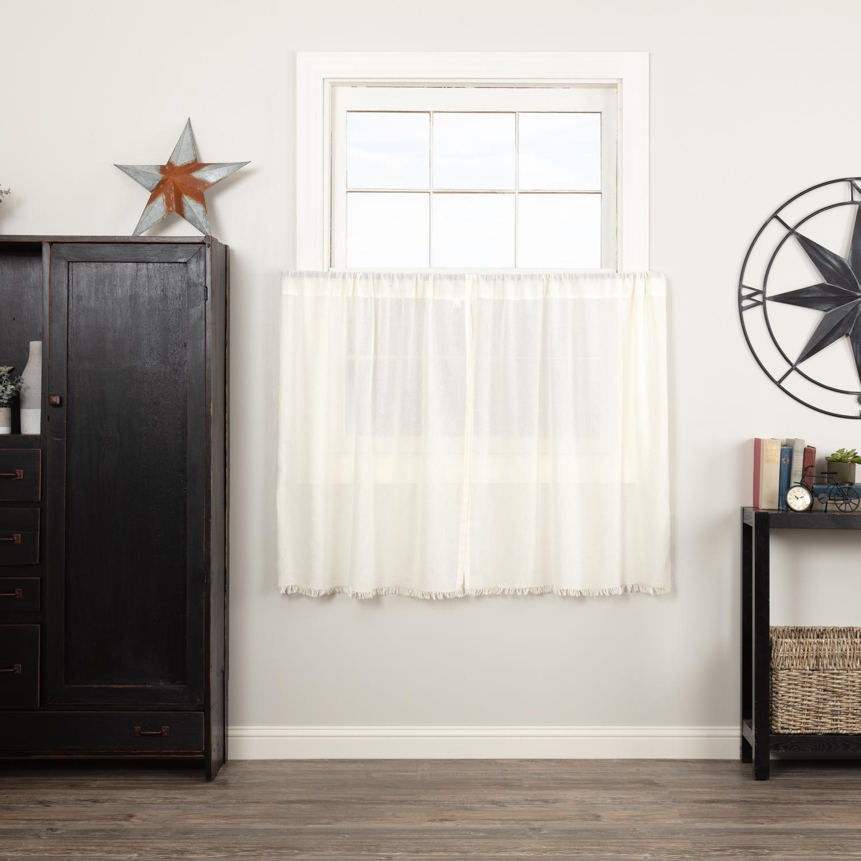 Farmhouse Kitchen Curtains Vhc Tobacco Cloth Tier Pair Rod