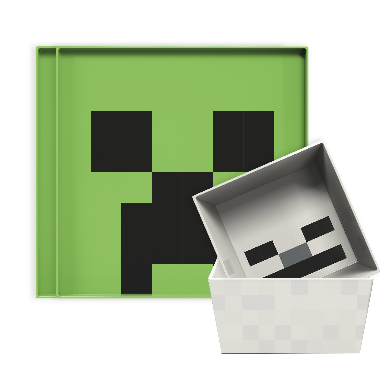 Minecraft Kids Dinnerware Set, Creeper and Ghost, 4-piece set slideshow image 2