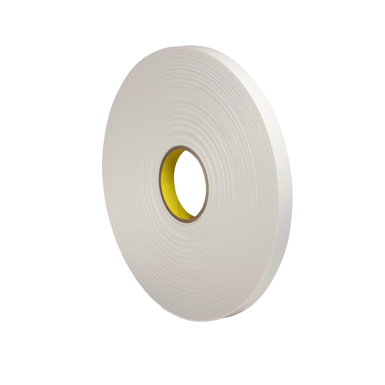 3M™ Double Coated Polyethylene Foam Tape 4462, White, 3/4 in x 72 yd, 31 mil, 12 rolls per case