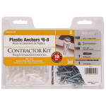 White Ribbed Plastic Anchor Contractor Kit