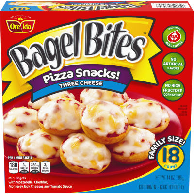 Bagel Bites Three Cheese Pizza Snacks 18 count Box