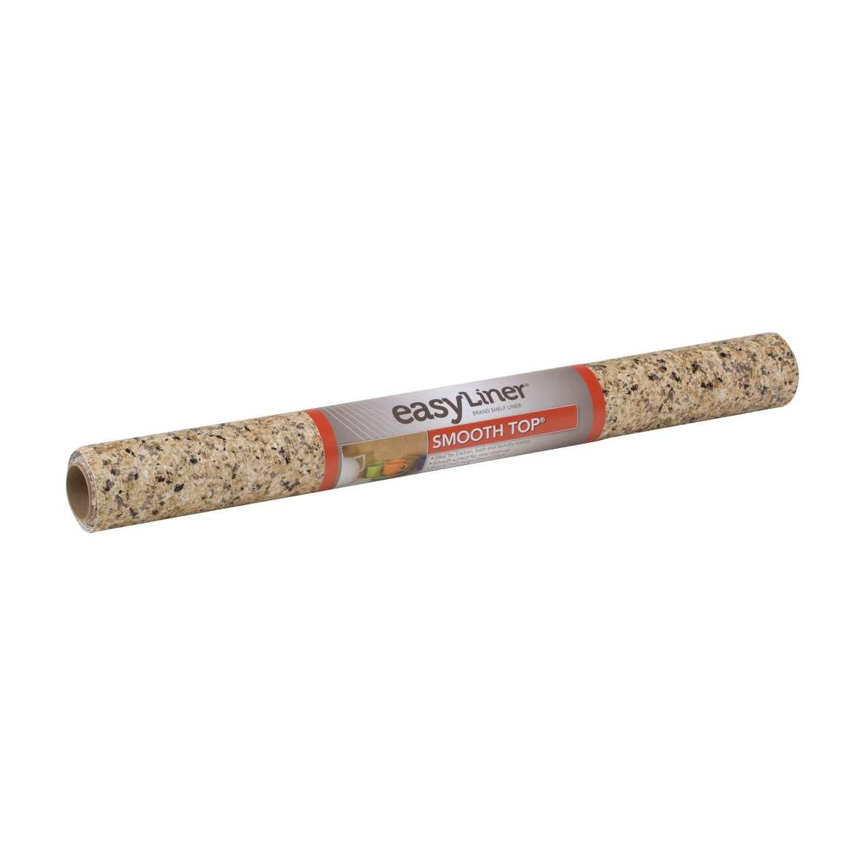 Cabinet Shelf Liner Walmart: Smooth Top Easy Liner Shelf Liner Beige Granite