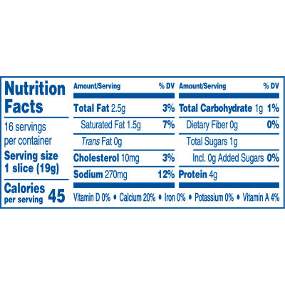 Kraft Singles 2% Milk Reduced Fat Swiss Cheese Slices, 10.7 oz (16 slices)