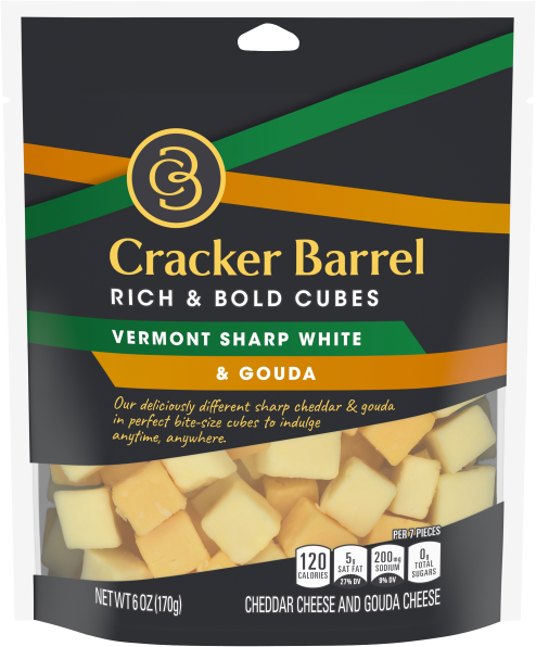 Vermont Sharp White Cheddar & Gouda - 6oz bag