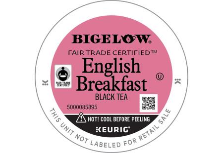 Lid of Bigelow English Breakfast Tea K-Cups for Keurig