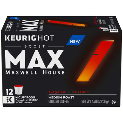 Maxwell House Coffee Boost 1.75X Caffeine Coffee K-Cup Pods 4.76 oz Box