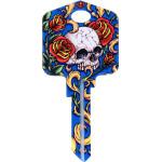 Achilles Ink - Skull & Roses Key Blank