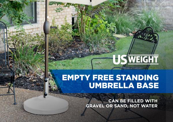 Fillable Free Standing Umbrella Base - White 2