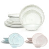 French Country Plate & Bowl Sets, White, 12-piece set slideshow image 12