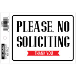 """No Soliciting Sign, 4"""" x 6"""""""