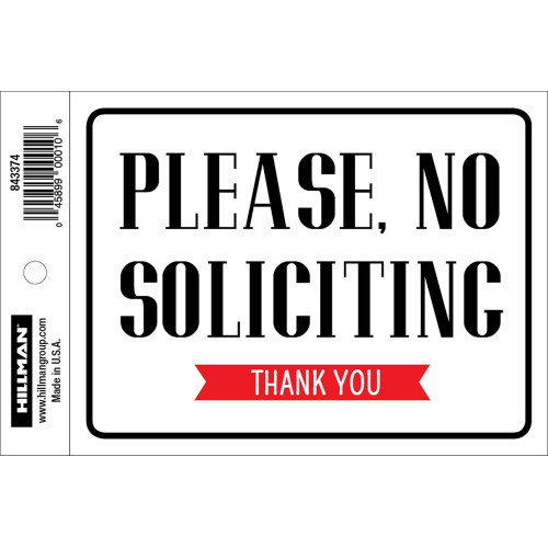 No Soliciting Sign (4