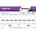 "Tension Pins Assortment (1/4"" thru 1/2"" Diameter)"