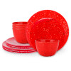 Confetti Dinnerware Set, Red, 12-piece set