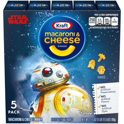 Kraft Star Wars Shapes Macaroni & Cheese Dinner 5 - 5.5 oz Boxes