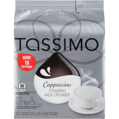 Tassimo Cappuccino Foaming Milk Creamer T Discs 16 count Bag
