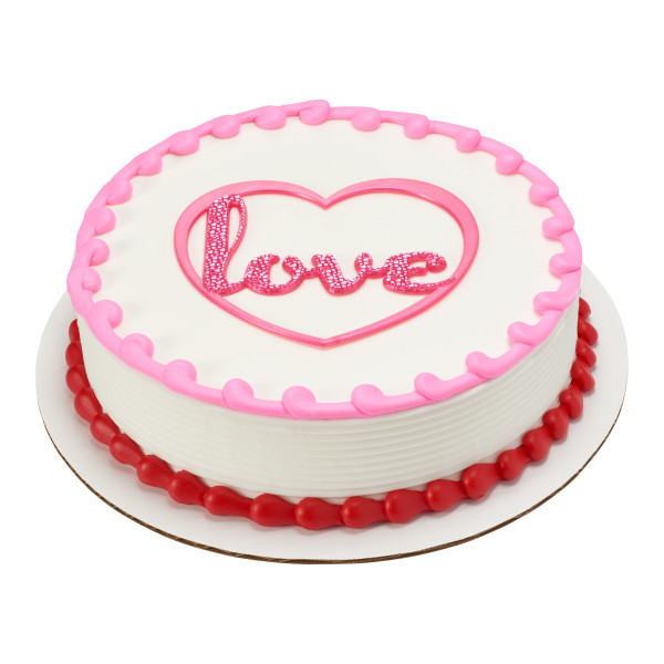 Foil Love Heart Layon