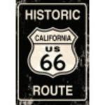 """Aluminum Vintage Route 66 Sign 10"""" x 14"""""""