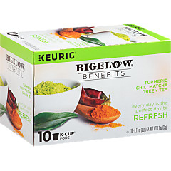 Benefits Turmeric Chili Matcha Green Tea K-Cup® pods  - Case of 6 boxes - total of 60 K-Cup® pods
