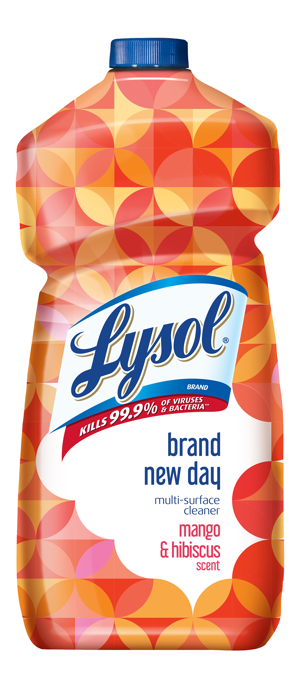 Lysol Multi-Surface Cleaner, Mango & Hibiscus, 48oz, Brand New Day
