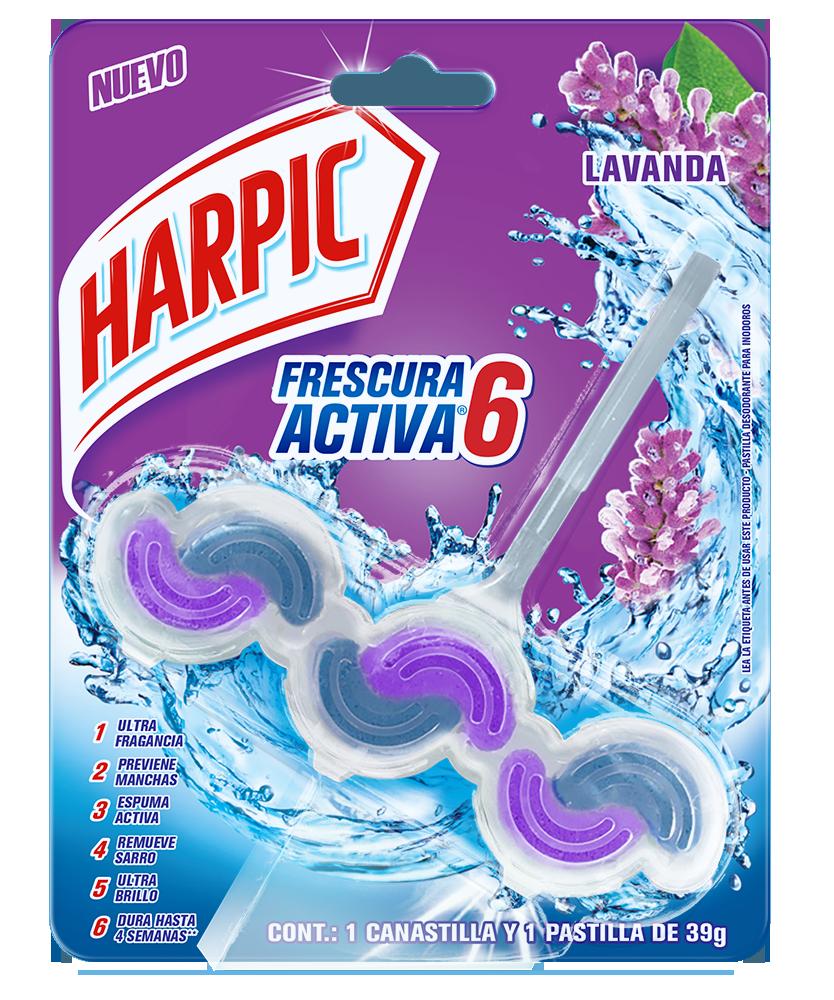 Harpic® Frescura Activa Canastilla Pastilla Aromatizante Para Inodoros, Lavanda 39 G