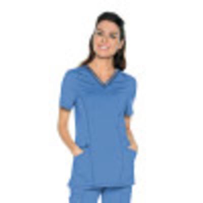Urbane Impulse Scrub Top for Women: 2-Pocket, Contemporary Slim Fit, Extreme Stretch, Mesh Trim V-Neck Medical Scrubs 9105-Urbane
