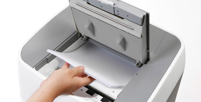 ShredMATIC® shredders are a convenient way to shred stacks of paper quickly and easily.