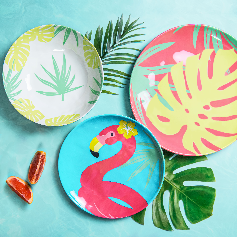 Summer Prints Dinnerware Set, Flamingo, 12-piece set slideshow image 8
