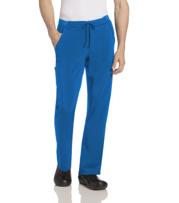 Landau Essentials 4 Pocket, Scrub Pants for Men: Relaxed Fit, Straight Leg, Durable Cargo Medical 2034-Landau