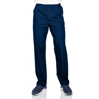 Landau Men's Elastic Waist Cargo Scrub Pants-8555-Landau