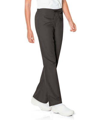 Landau Scrub Zone 3 Pocket Scrub Pants for Women: Classic Relaxed Fit, 50/50 Waist, Flare Leg, 83222-