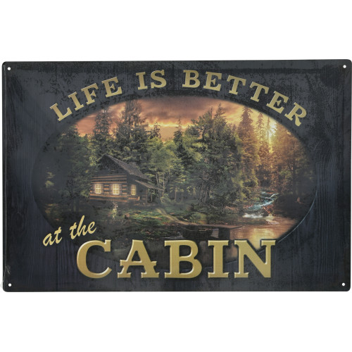 Life is Better at the Cabin Novelty Sign (12