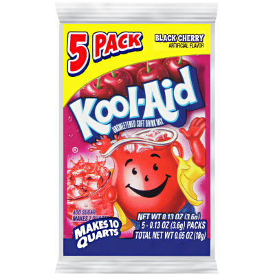 Kool-Aid Unsweetened Black Cherry Powdered Soft Drink 5 - 0.13 oz Packs