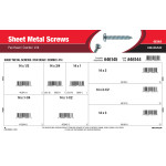 #14 Combo Pan-Head Sheet Metal Screws Assortment
