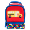 Grid Lock 2-compartment Reusable Insulated Lunch Bag, Buses slideshow image 2