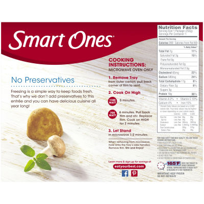 Smart Ones Tasty American Favorites Roast Beef, Mashed Potatoes and Gravy 9 oz Box