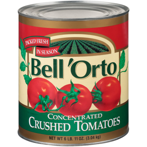 BELL ORTO Concentrated Crushed Tomato, 107 oz. Can (Pack of 6)