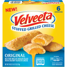 Velveeta Original Stuffed Grilled Cheese Sandwiches 6 ct Box