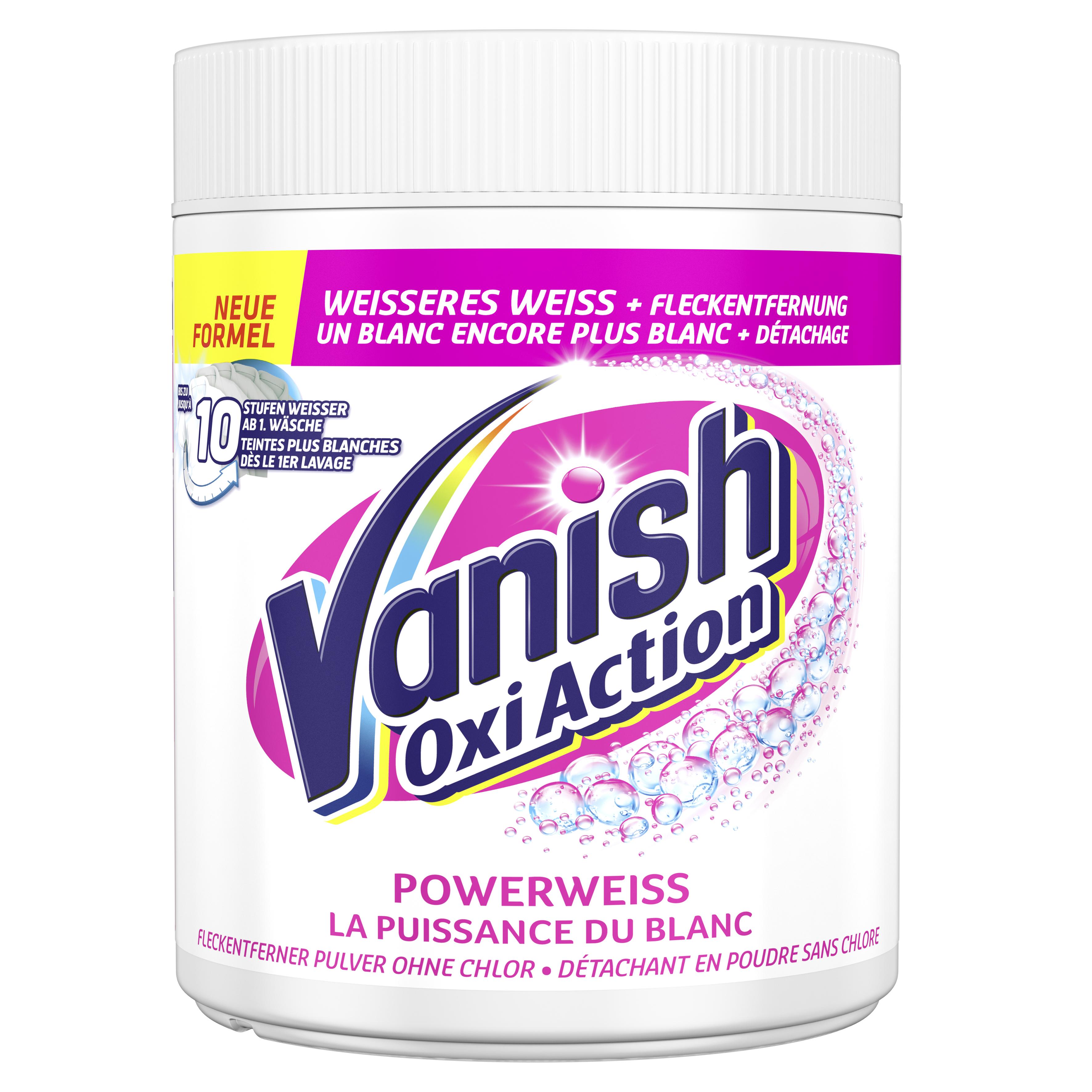 Vanish Oxi Action Pulver für Weisses
