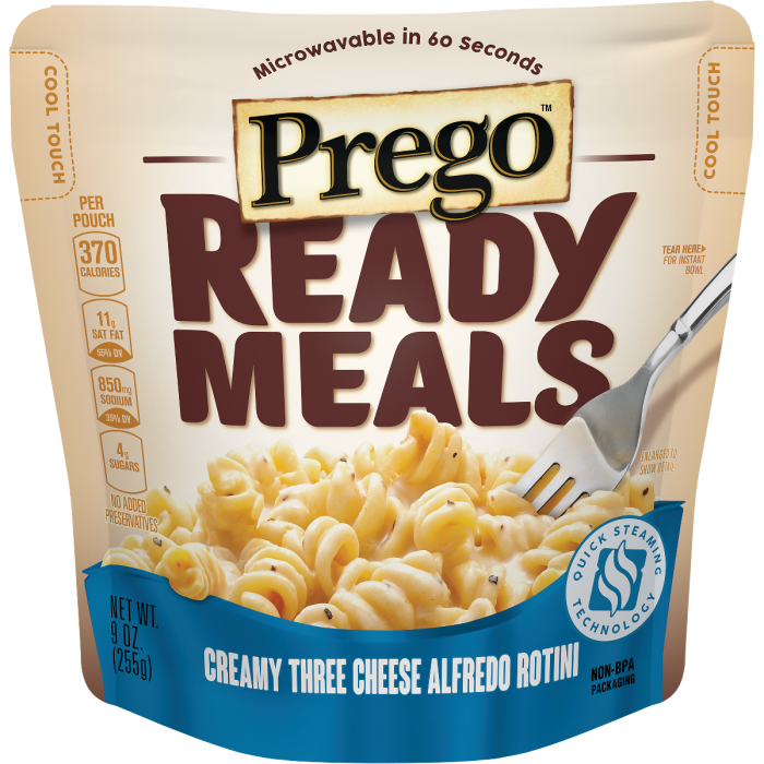 Creamy Three Cheese Alfredo Rotini Meal
