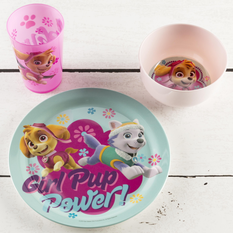 Paw Patrol Dinnerware Set, Skye & Everest, 5-piece set slideshow image 3