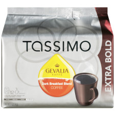 Gevalia Dark Breakfast Blend Ground Coffee T-Disc for Tassimo Brewing System, 12 count