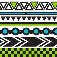 Swatch for Printed Duck Tape® Brand Duct Tape - Tribal, 1.88 in. x 10 yd.