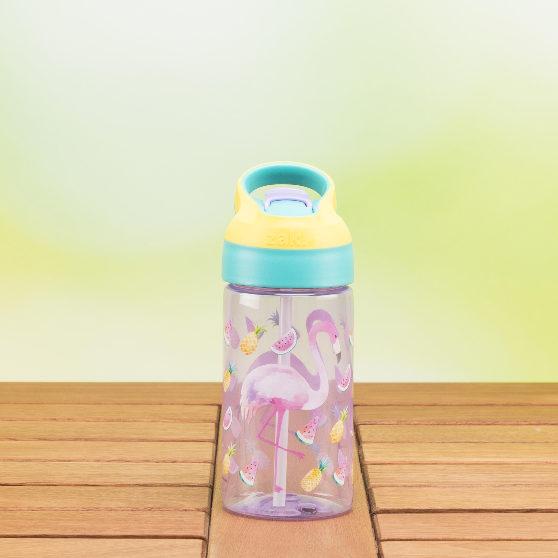 Zak Hydration 16 ounce Water Bottle, Cactus and Flamingos, 2-piece set slideshow image 8