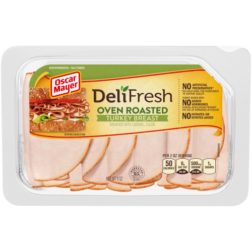 Oscar Mayer Deli Fresh Oven Roasted Turkey Breast 9 oz Tray