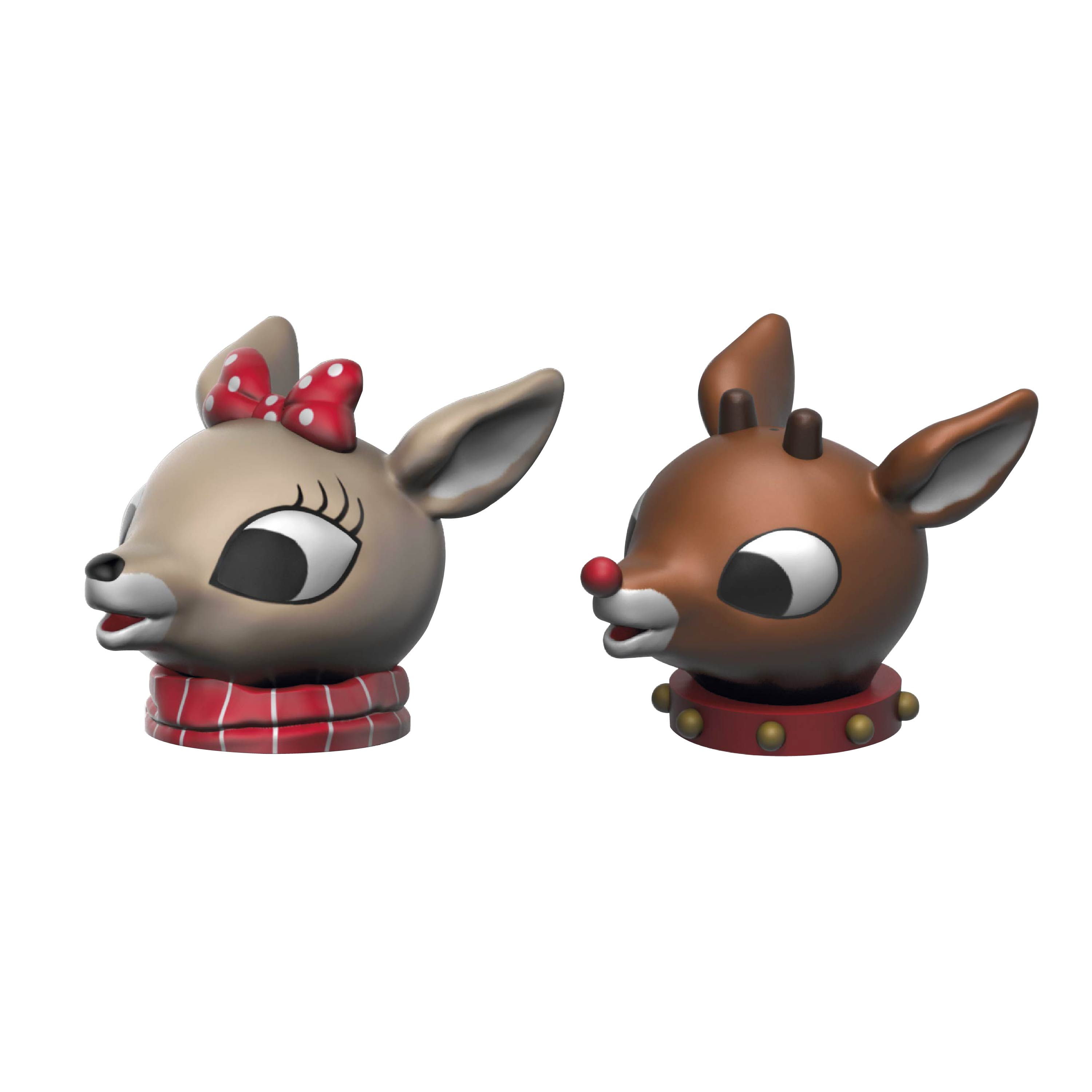 Rudolph the Red-Nosed Reindeer Salt and Pepper Shaker Set, Rudolph & Clarice, 2-piece set slideshow image 4
