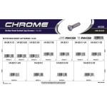"Chrome Button-Head Socket Cap Screws Assortment (1/4""-20 Thread)"