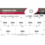 "Stainless Steel SAE Flat Washers Assortment (#8 thru 3/4"")"