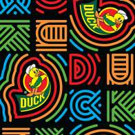 Swatch for Printed Duck Tape® Brand Duct Tape - Love Tie-Dye, 1.88 in. x 10 yd.